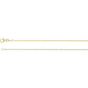 Sterling Silver Plated with 18K Yellow 1.4mm Diamond Cut Cable 16