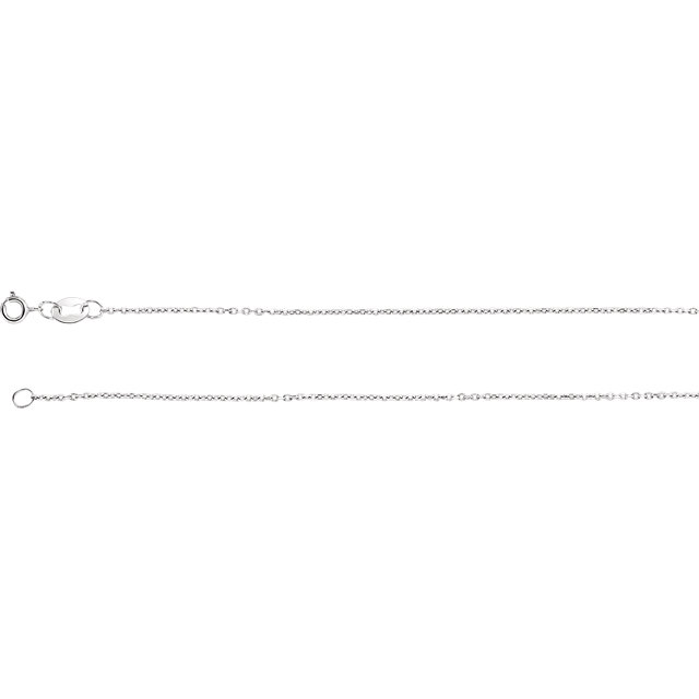 Sterling Silver 1 mm Diamond Cut Cable 30