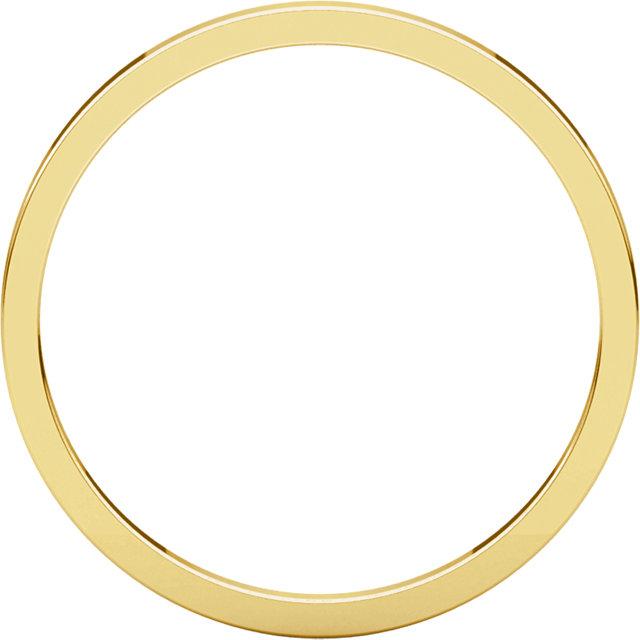 14K Yellow 1.5 mm Flat Band Size 8