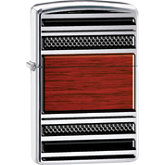 Zippo® Steel & Wood Pipe High Polish Chrome Lighter