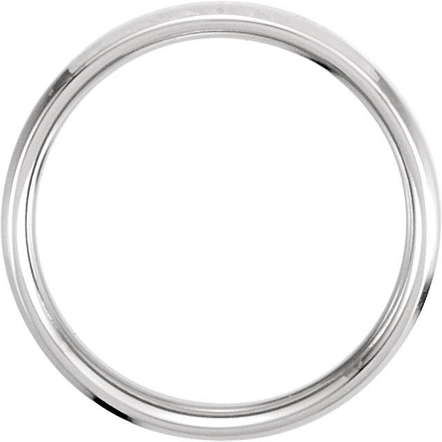 14K White/Yellow 4 mm Beveled Edge Band Size 12