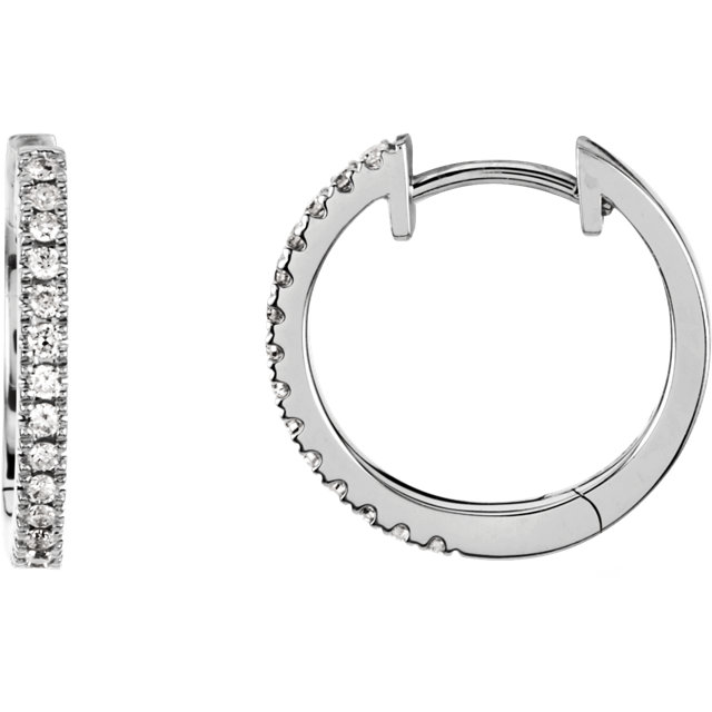 Diamond Hoop Earrings for Dangles