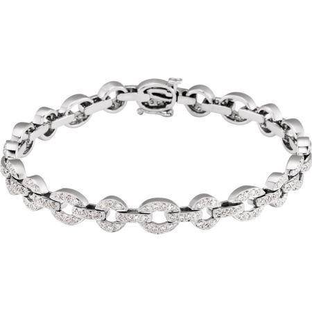 14K White 1 1/8 CTW Diamond Bracelet