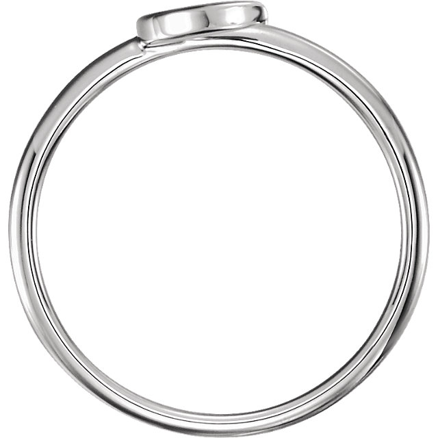 Sterling Silver Crescent Ring