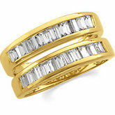 Baguette Accented Ring Guard