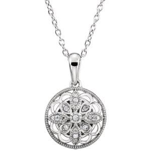 Sterling Silver .05 CTW Diamond 18