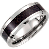 Tungsten & Carbon Fiber Inlay Band