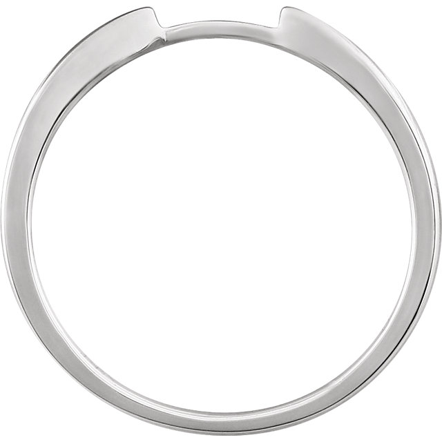 14K White Band for 4 mm Round Ring