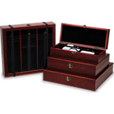 Rosewood Finish Wooden Box for Stone Parcel Papers