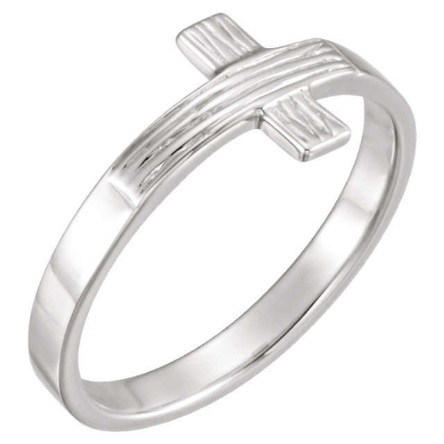 Sterling Silver The Rugged Cross® Chastity Ring Size 6