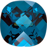 Antique Square Imitation Blue Zircon