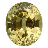 Oval Genuine Yellow Sapphire (Black Box)
