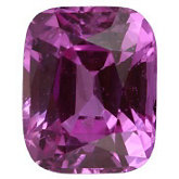 Antique Cushion Genuine Pink Sapphire (Black Box)