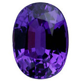 Oval Genuine Purple Sapphire (Black Box)