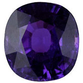 Antique Square Genuine Purple Sapphire (Black Box)