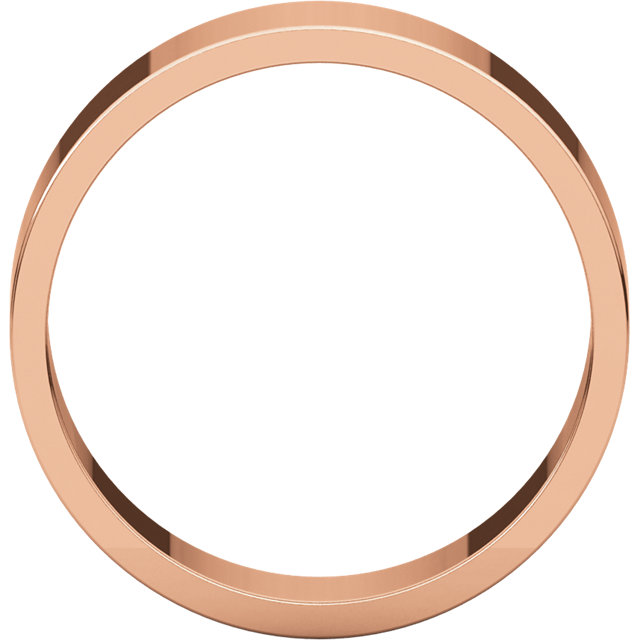 14K Rose 6 mm Flat Band Size 8
