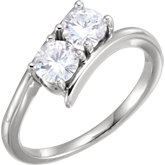 Charles & Colvard Moissanite® Two-Stone Ring