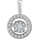 Mystara Diamonds® Halo-Style Pendant