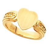 Heart Shape Signet Ring