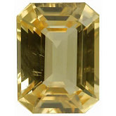 Emerald/Octagon Genuine Yellow Sapphire (Black Box)
