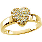 Cluster-Style Heart Ring