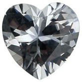 Heart Genuine White Sapphire (Black Box)