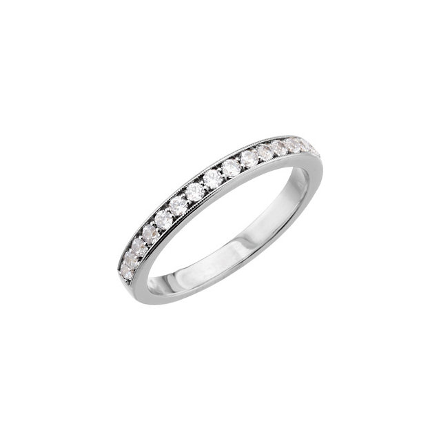 Platinum 1/3 CTW Diamond Band for 5.8 & 6.5mm  Round Engagement Ring