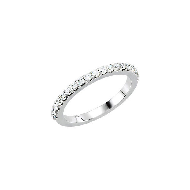 14K White 3/8 CTW Diamond Band for 5.2mm Engagement