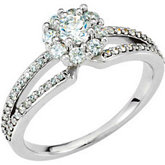 Cluster Halo-Style Engagement Ring