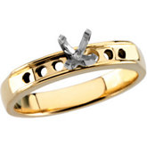 Channel-Set Engagement Ring or Band