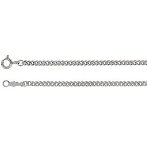 Sterling Silver 2.25mm Solid Curb Link 24