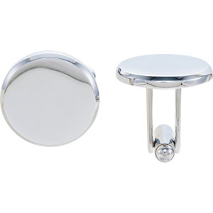 Stainless Steel Round Cuff Links