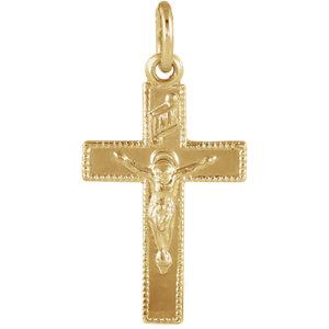 14K Yellow 14x9mm Child-s Crucifix Pendant