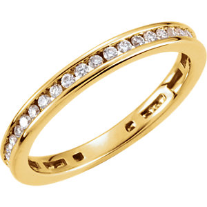 14K Yellow 3/8 CTW Diamond Stackable Ring