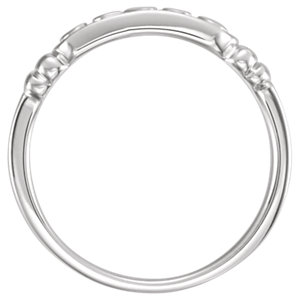 Sterling Silver In The Name of Jesus® Chastity Ring Size 6