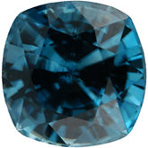Antique Square Genuine Blue Zircon (Black Box)