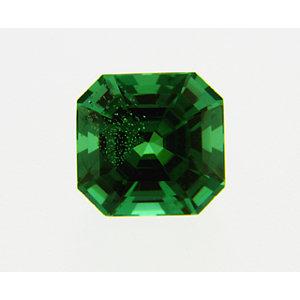 Garnet Asscher 0.36 carat Green Photo