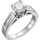 Channel-Set Tulipset® Engagement Ring