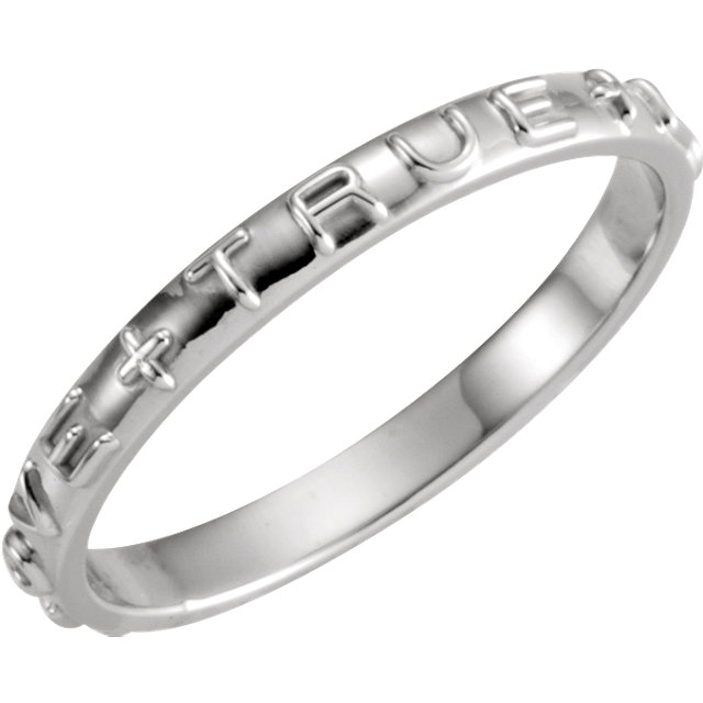 Sterling Silver True Love Chastity Ring Size 11
