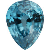 Pear Genuine Blue Zircon (Black Box)
