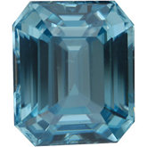 Emerald/Octagon Genuine Blue Zircon (Black Box)