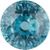 Round Genuine Blue Zircon (Black Box)