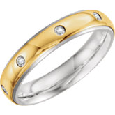 Precious Bond® Sterling & Karat Gold Band