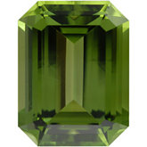 Emerald/Octagon Genuine Peridot (Black Box)