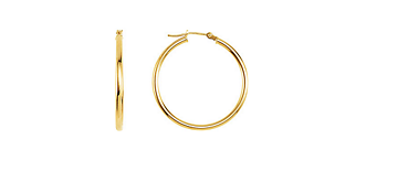 Classic Metal Hoop Earrings