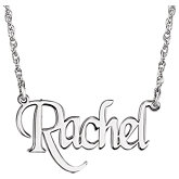 Block Nameplate Necklace