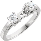 Two-Stone Engagement Remount Ring