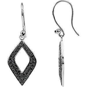 Sterling Silver Black Spinel Earrings