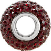 Kera®  Garnet-Colored Crystal Pave' Bead