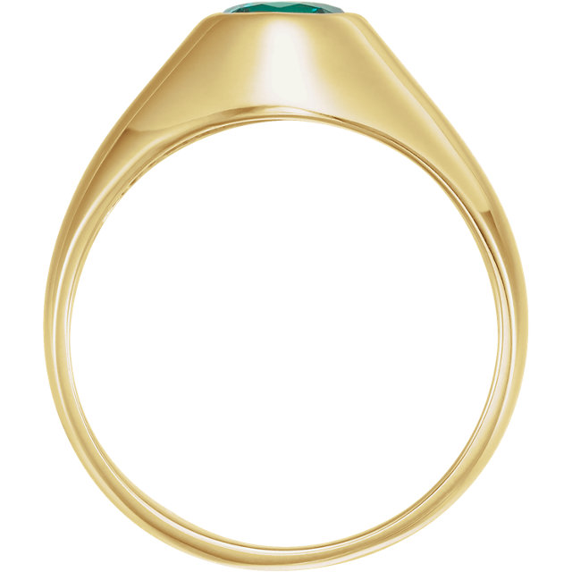 14K Yellow 8.2mm Round Ring Mounting